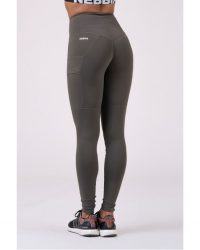 NEBBIA High Waist Fit&Smart leggings 505 – szafari